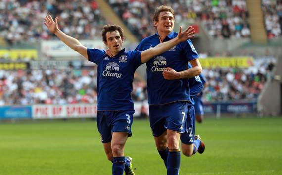 EPL - Swansea City v Everton, Leighton Baines