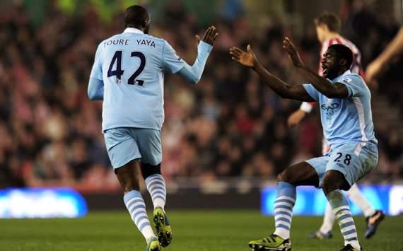 EPL: Yaya Toure - Kolo Toure, Stoke City v Manchester City