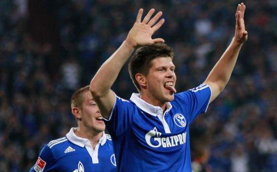 German Bundesliga: FC Schalke 04 - Bayer Leverkusen, Klaas-Jan Huntelaar