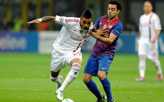 Kevin Prince Boateng and Xavi Hernandes - Ac Milan-Barcelona (Getty Images)