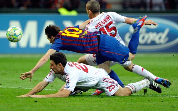 Leo Messi - Milan-Barcelona - Champions League