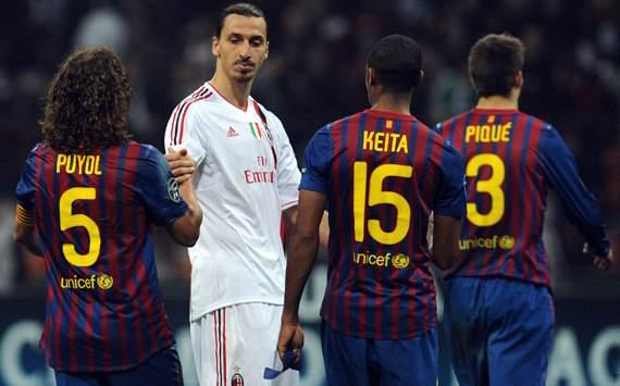 Zlatan Ibrahimovic - Milan-Barcelona - Champions League