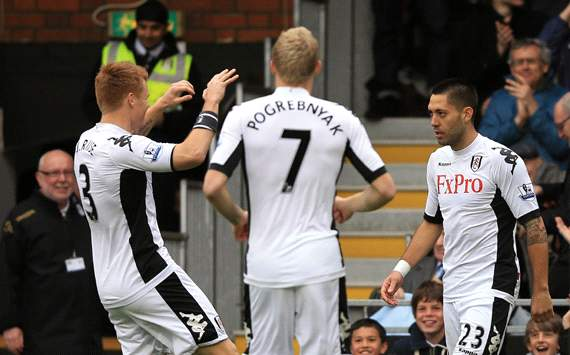 EPL: John Arne Riise - Clint Dempsey - Pavel Pogrebnyak , Fulham v Norwich City 
