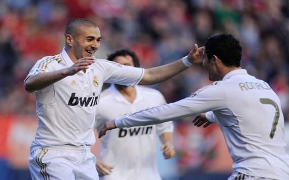 Karim Benzema, Cristiano Ronaldo - Osasuna vs Real Madrid