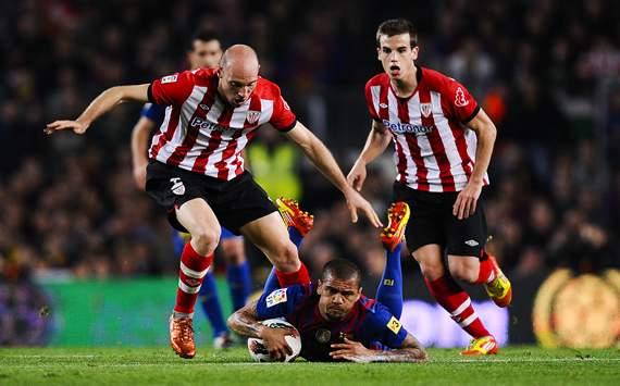 Dani Alves, Gaizka Toquero, Iñigo Pérez - Barcelona vs Athletic Bilbao