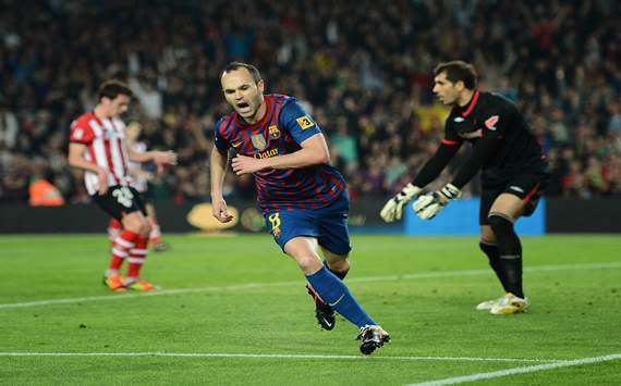 Andrés Iniesta, Gorka Iraizoz - FC Barcelona vs Athletic Club Bilbao