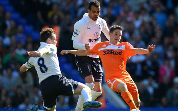 EPL, Tottenham Hotspur v Swansea City, Joe Allen; Sandro; Scott Parker