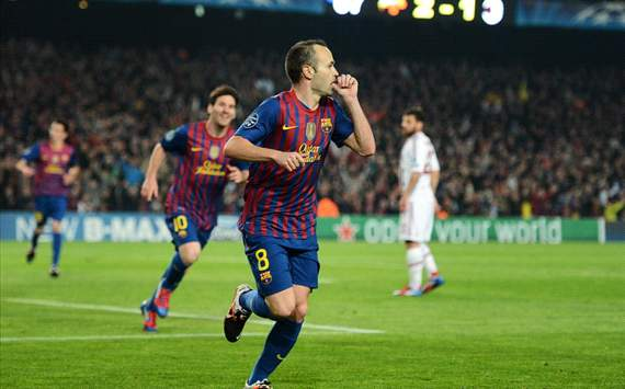 Andres Iniesta (B) - Barcelona-Milan - Champions League (Getty Images)