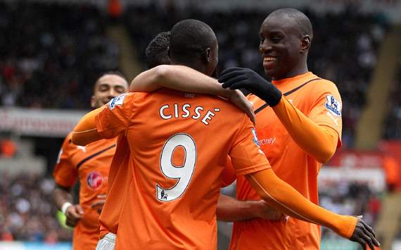 EPL: Papiss Cisse - Demba Ba, Swansea City v Newcastle United