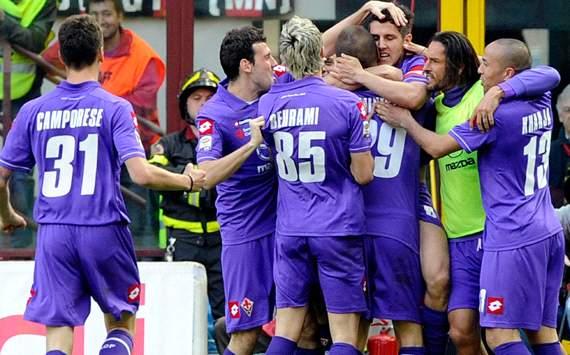 Fiorentina celebrating