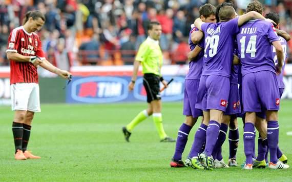 Fiorentina celebrating - Milan-Fiorentina - Serie A