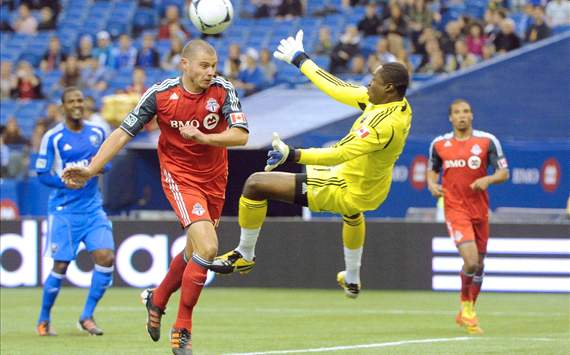 Donovan Ricketts and Danny Koevermans - Montreal Impact vs. Toronto FC