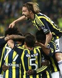 STSL: Fenerbaheli oyuncularn gol sevinci