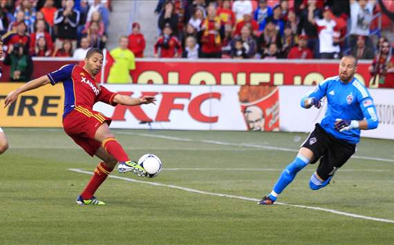 Alvaro Saborio, Real Salt Lake; Matt Pickens, Colorado Rapids; MLS