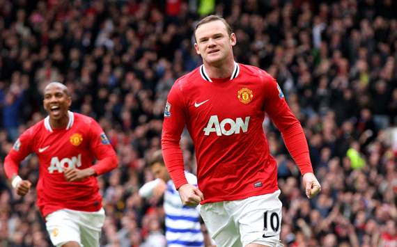 EPL: Wayne Rooney, Manchester United v QPR