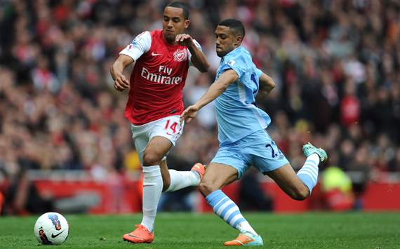 EPL, Gael Clichy; Theo Walcott, Arsenal v Manchester City