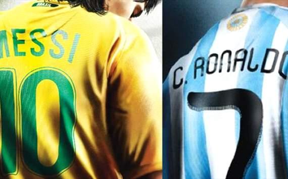 Messi con camiseta de Brasil