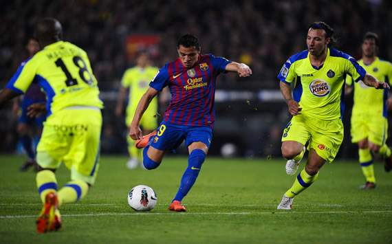 Alexis Snchez, Alexis Ruano - FC Barcelona vs Getafe