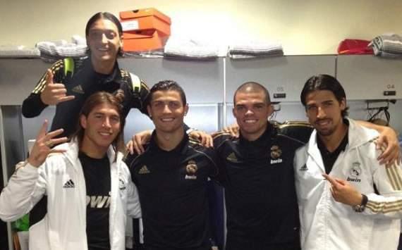 Sergio Ramos, Cristiano Ronaldo, Pepe, Sami Khedira y Mesut Özil - Real Madrid