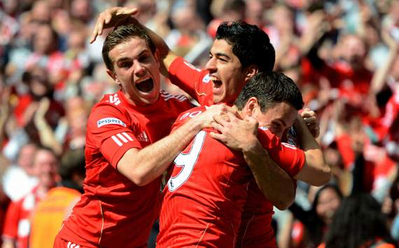 FA Cup: Luis Suarez - Jordan Henderson - Stewar Downing, Liverpool v Everton