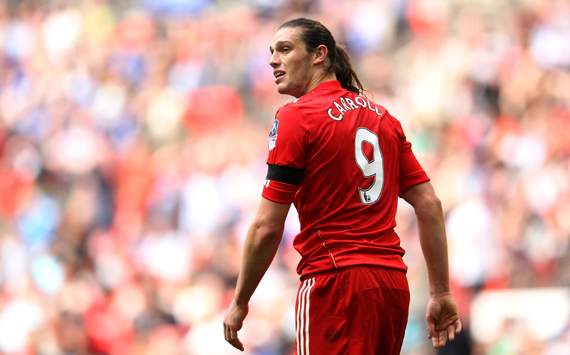 FA Cup Semi Final, Andy Carroll, Liverpool v Everton
