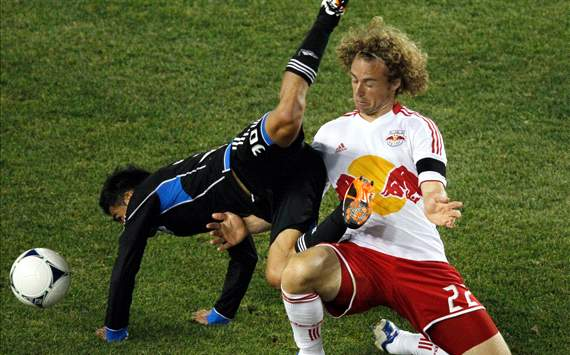 Stephen Keel, New York Red Bulls; Rafael Baca, San Jose Earthquakes; MLS