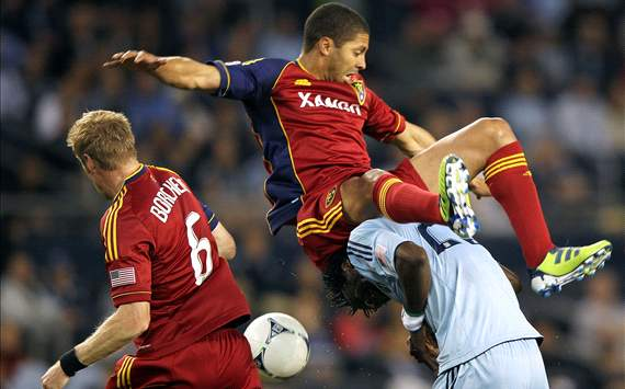 Alvaro Saborio, Kei Kamara; Real Salt Lake - Sporting Kansas City
