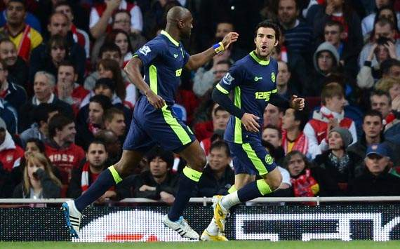 EPL, Jordi Gomez; Emmerson Boyce, Arsenal v Wigan Athletic