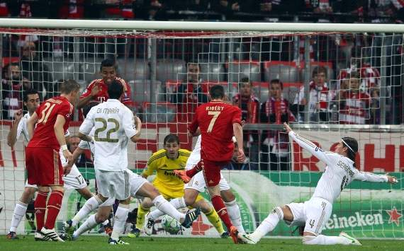 Champions League, FC Bayern Munich vs Real Madrid, Franck Ribery, scoring