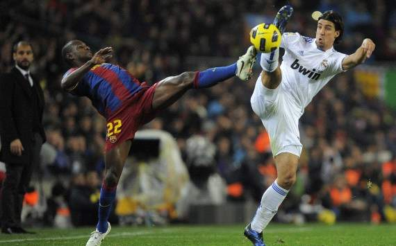 Spain: FC Barcelona - Real Madrid, Eric Abidal, Sami Khedira