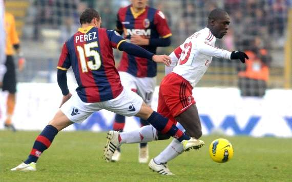 Diego Perez, Clarence Seedorf - Bologna-Milan