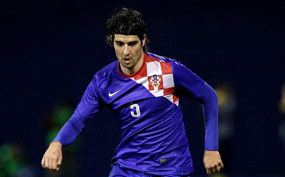 Vedran Corluka of Croatia