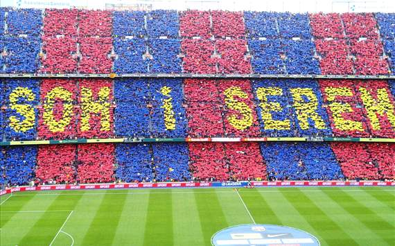 Barcelona-Real Madrid: El Camp Nou gritar por la independencia en el minuto 17