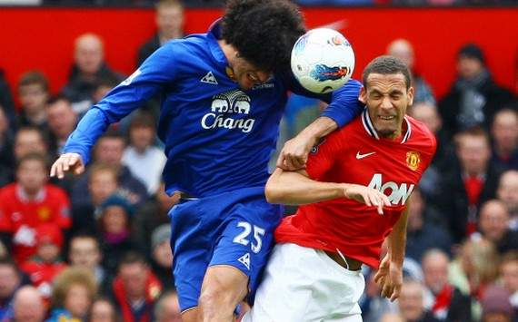 EPL : Rio Ferdinand vs Marouane Fellaini (Manchester United vs Everton)