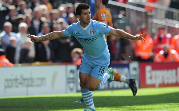 EPL: Sergio Aguero, Wolverhampton v Manchester City
