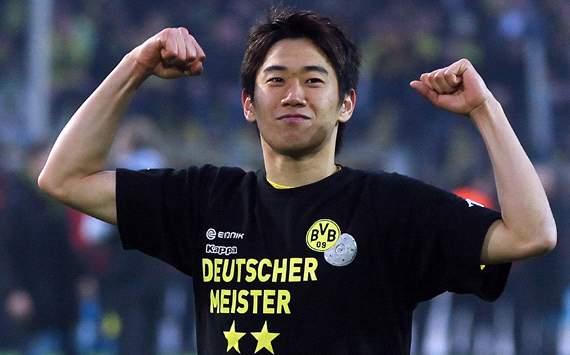 Dortmund's Shinji Kagawa celebrates