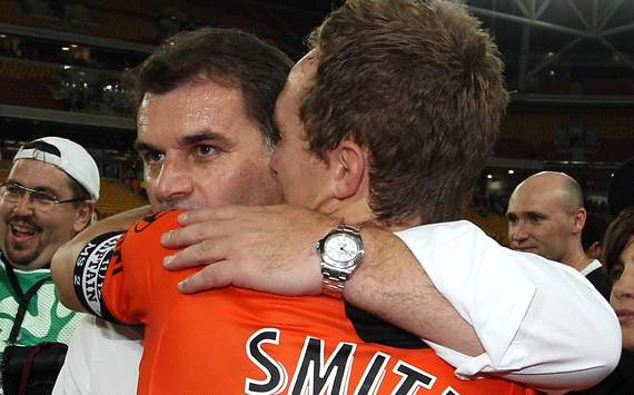 Brisbane Roar coach Ange Postecoglou savours fourth national title