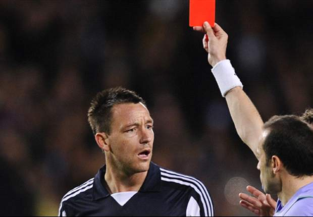 Terry claims sending off was unintentional during Chelsea's Champions League tie against Barcelona