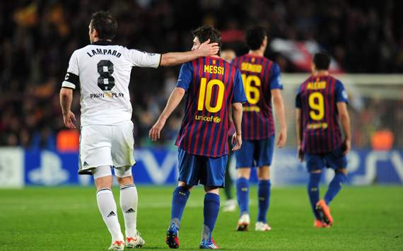 CL - FC Barcelona v FC Chelsea, Frank Lampard and Lionel Messi