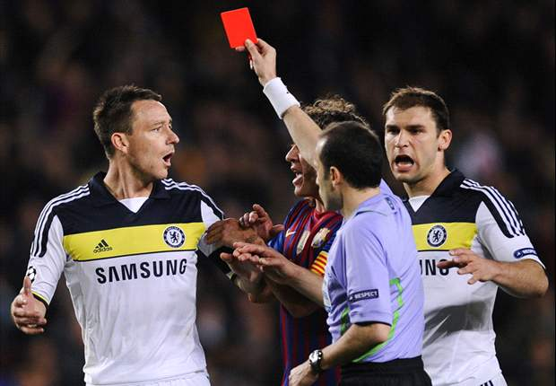 Chelsea's Terry admits red card against Barcelona was 'a mistake'
