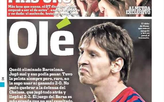 Messi y el diario Olé