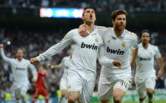  UEFA Champions League Semi Final, Cristiano Ronaldo; Xabi Alonso, Real Madrid CF v Bayern Muenchen 