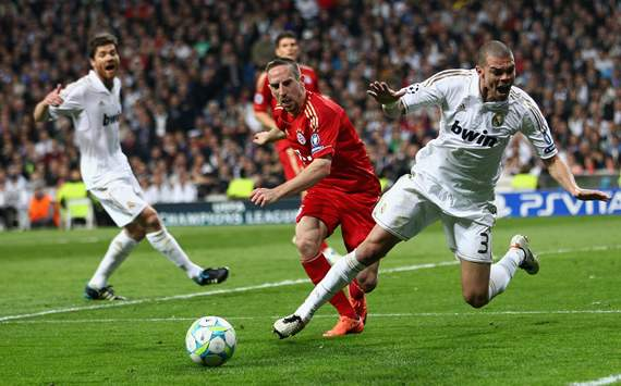 Franck Ribery; Pepe, Real Madrid, Bayern Munchen
