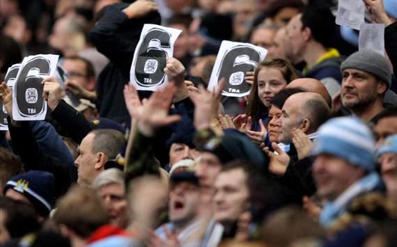 Manchester city fans , 6 -1