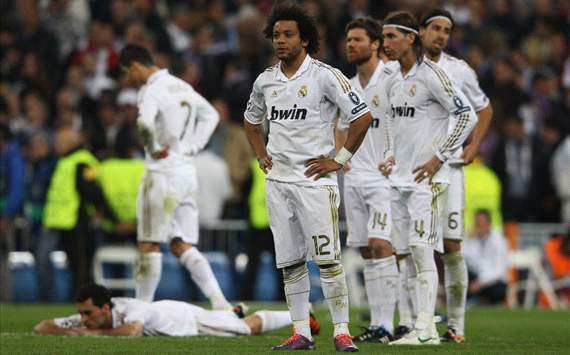 Marcelo, Khedira, Arbeloa, Xabi Alonso, Ramos - Real madrid