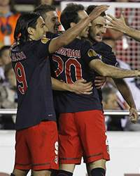 Atletico Madrid celebrating