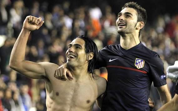 Radamel Falcao, Adrian, Atletico Madrid, Valencia