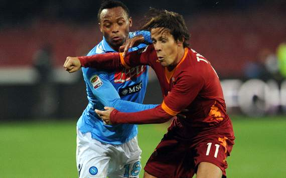 Zuniga &amp; Taddei - Napoli-Roma - Serie A