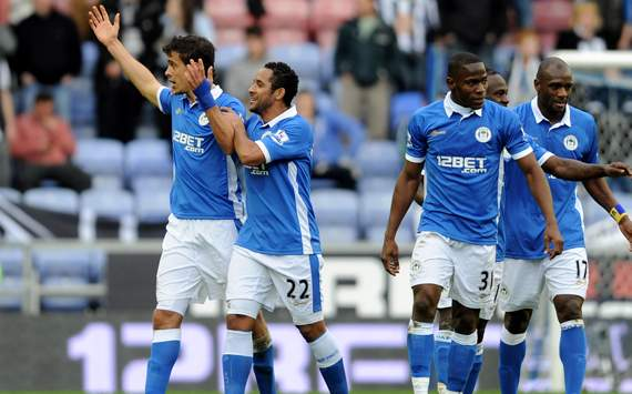 EPL - Wigan Athletic v Newcastle United, Franco Di Santo
