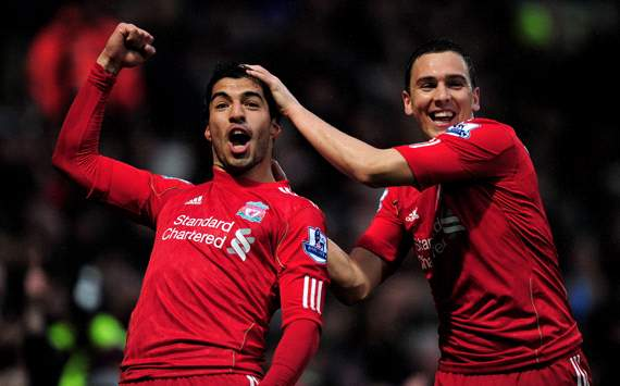 EPL: Luis Suarez - Stewart Downing, Norwich City v Liverpool